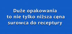 Co wybrać? Duże czy małe opakowania surowców recepturowych? (fot. receptura.pl).